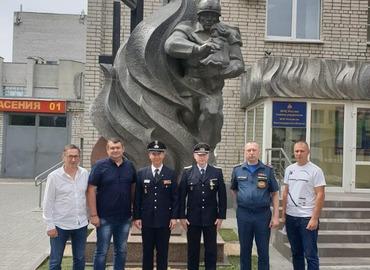 Besuch bei den russischen Kameraden