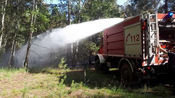 Einsatz der Feuerwehr Forst (Lausitz) in der Lieberoser Heide im Juli 2019