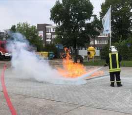 Ersticken von brennendem Gas, welche an die Oberfläche getreten ist.