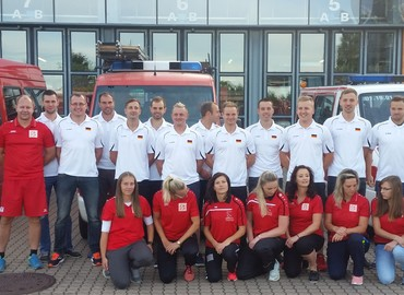 Das Team Lausitz kurz vor der Abfahrt