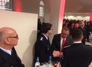 Der Stellvertretende Vorsitzende Siegmund Rückmann und der Vorsitzende Robert Buder im Gespräch