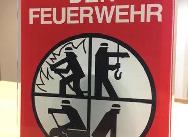 """Das Förderschild """"Partner der Feuerwehr"""""""