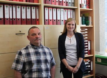 Die neuen Mitarbeiter im Amt Peitz Herr Schulze und Frau Wilhelm