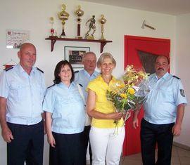 Jürgen Radefeld, Hanni Karoczak, Dr. Wilfried Britze, Martina Schulz und Steffen Berger