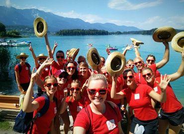 Das Team Brandenburg beim Ausflug am Faaker See