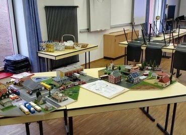 Vorbereitetes Planspiel für die Teilnehmer