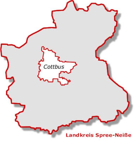 Karte Spree-Neíße