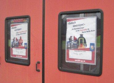 Plakate im Geräthaus Groß Oßnig