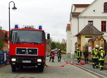 Die Peitzer Feuerwehr im Einsatz