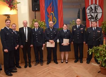 Karsten Magister (Gemeindewehrführer), Michael Schimmack (Ortswehrführer), Bürgermeister Dieter Perko, Marcel Mergl, Peter Stephan, Isabell Heine, Siegmund Rückmann (2. VS KFV SPN e.V.), Mathias Voigt (stellv. KBM)