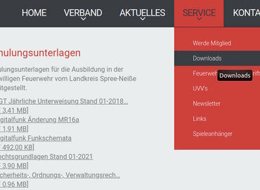 Screenshot www.kfv-spn.de